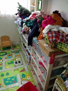 子供服の整理 作業前