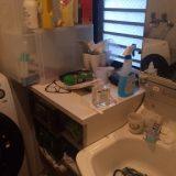 洗面所整理収納作業前
